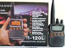 YAESU VR 120 D RADIO SCANNER RECIEVER AIR BAND FIRE MARINEEMEREGENCY UNLOCKEDNEW