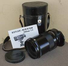 Nikon Reflex NIKKOR 1000mm F/11 Mirror lens BEAUTIFUL w case manual hood filters