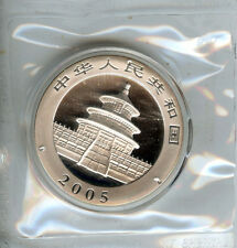 2005 10 Yn Panda 1oz Silver Chinese Coin Gem BU in original mint plastic + Bonus