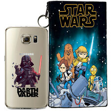 STAR WARS (DARTH VADER) JELLY CLEAR CASE FOR SAMSUNG GALAXY S7 + POUCH