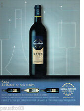 PUBLICITE ADVERTISING 096  2008  vins domaine Baron de Rothschild (Lafite) Saga