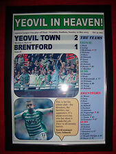 Yeovil Town 2 Brentford 1 - 2013 League One play-off final - framed print