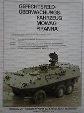 12/1983 PUB MOWAG KREUZLINGEN SUISSE BLINDE PIRANHA 6X6 ORIGINAL GERMAN AD