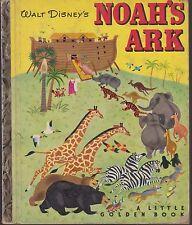 VG 1952 1st Printing Little Golden Book Walt Disney Classic Noah's Ark Bible