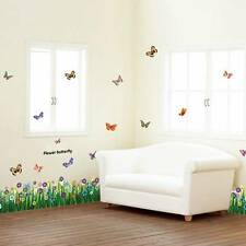 Flowers Butterfly Wall Sticker Amazing Art Decals Mural PVC Decor Kids Removable