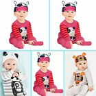 Newborn Infant Baby Boys Girls Animal Romper Bodysuit Outfit Costume Clothes Set
