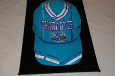 NBA T.E.I. CHARLOTTE HORNETS VINTAGE BALL CAP TEAL AND PURPLE ONE SIZE SNAP BACK