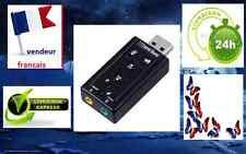 usb audio adaptateur écouteur, casque, micro 3,5 mm,