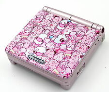 Custom Printed & Re-shell Pokemon Way Too Pink Nintendo Game Boy Advanced SP