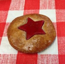 Realistic Faux Fake Food Red Star Cookie Kitchen  3D Refrigerator Magnet
