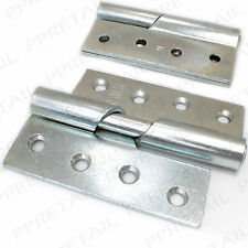 "2 x HEAVY DUTY★RIGHT HAND★RISING HINGE 100mm/4"" Thick Silver Steel Door LIFT OFF"