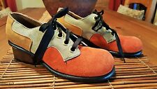 New Old Stock Vtg 60s 70s - MOXEES - Haute Mod Couture Suede Saddle Oxford Shoes