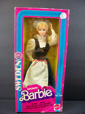 NEW BARBIE DOLL 1982 VINTAGE SWEDISH SWEDEN DOLLS OF THE WORLD