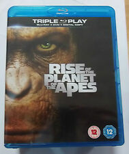Rise of the Planet of the Apes  (Very Good)(UK Blu Ray) Free Post
