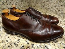 ** BROOKS BROTHERS** GENTS  SHOES SIZE USA 13 D BROWN LEATHER CAPTOE OXFORDS