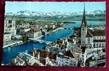 AK Ansichtskarte Zürich und die Alpen Schweiz kostenloser Versand