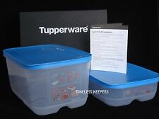 Free Ship Tupperware Surf'N Turf Containers Meats Seafood Fresh NEW Raindrop