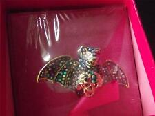 BUTLER & WILSON MULTI COLOUR CRYSTAL BAT RING ONE SIZE ADJUSTABLE NEW IN BOX