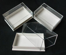 12 x PERSPEX DISPLAY SPECIMEN BOX IDEAL FOR FOSSILS, METEORITES, DIE CASTS,COINS