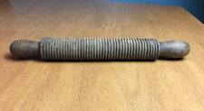 Antique Primitive Wood Grooved Noodle Pasta Rolling Pin 14""