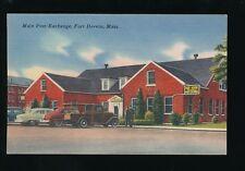 USA FORT DEVENS Massachusetts Main Post Exchange c1950s PPC