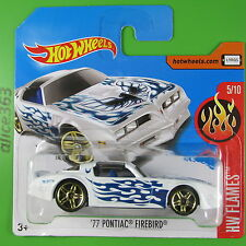 HOT WHEELS 2017  -  ´77 Pontiac Firebird weiss -  HW Flames -  132  - neu in OVP
