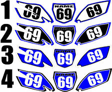2010-2013 Yamaha YZ250f YZ 250f 250f Number Plates Side Panels Graphics Decal
