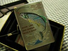 ZIPPO TROUT FISH TOWN & COUNTRY LANYARD/LOSSPROOF LIGHTER 1997