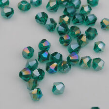 500pcs dark green ab exquisite Glass Crystal 4mm #5301 Bicone Beads loose beads!