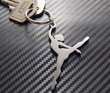 BALLERINA Ballet Dance Keyring Keychain Key Fob Bespoke Stainless Steel Gift