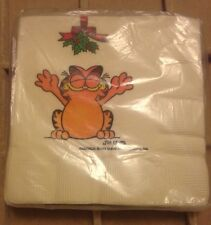 Vintage Gibson Greeting Card Garfield Christmas Paper Napkins 16ct Sealed