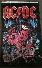ACDC Flag Are You Ready AC/ DC Textile Material 5FT By 3FT Freight Free !!!