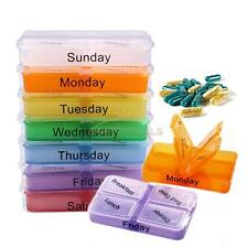 Medicine Weekly Storage Pill 7 Day Time Sorter Take Box Container Case Organizer