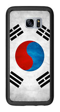 South Korea Grunge Flag For Samsung Galaxy S7 Edge G935 Case Cover by Atomic Mar