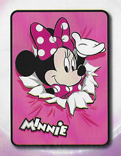 Disney Minnie Mouse - Single Bed Coral Fleece Blanket - Soft & Cosy - New