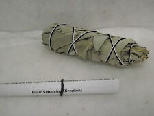 SAGE WHITE SMUDGE STICK WAND REMOVE NEGATIVITY CLEANSING 4 to 5 inches FREE SHIP