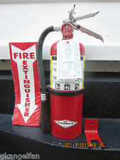 QUALITY 5lb  ABC FIRE EXTINGUISHER W/2016 CERTIFICATION TAG, WALL BRACKET & SIGN