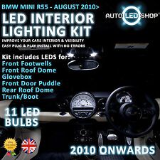 BMW MINI R56 2010 & GT LED INTERIOR COMPLETO FULL KIT SET LAMPADINA XENON BIANCO COOPER S