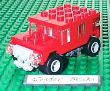 Lego JEEP / HUMMER from 7602 Remake in Red
