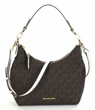 NWT MICHAEL Michael Kors Brown Signature Isabella Convertible Shoulder Bag New