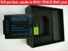 DC5-24V Led Music intelligent RGB controller for WS2811 WS2812B SK6812 pixels