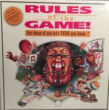 New Vtg Games Technologies Inc. RULES OF THE GAME! Think you know? SEALED 1995