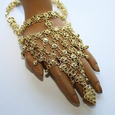 Hand decoration with bells Bollywood Belly dance India Goa Hippy Gold