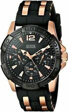 IMPORTED GUESS W0366G3 MASCULINE BLACK CHRONOGRAPH MENS WATCH GIFT 2YR WARRANTY