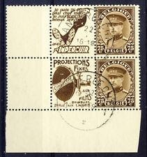 BELGIEN - König ALBERT I. - Zusammendruck R11/12+Nr. 332 - gestempelt