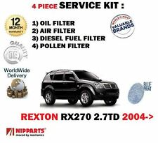FOR SSANGYONG REXTON RX270 2.7DT 2004-  OIL AIR FUEL POLLEN  FILTER SERVICE KIT
