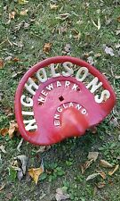 NICHOLSONS NEWARK ENGLAND Cast Iron Implement Seat farm plow hay rake tractor