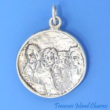 MOUNT MT RUSHMORE SOUTH DAKOTA .925 Solid Sterling Silver Round Charm