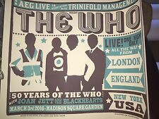 THE WHO MSG MADISON SQUARE GARDEN 3/3 NYC POSTER LOW LOW NUMBER #3 OUT OF 275 !