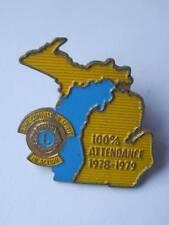Vecchia spilla LIONS CLUBS 100% attendance 1978 1979 spilletta old pin